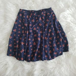 Old Navy blue and floral skirt size XS